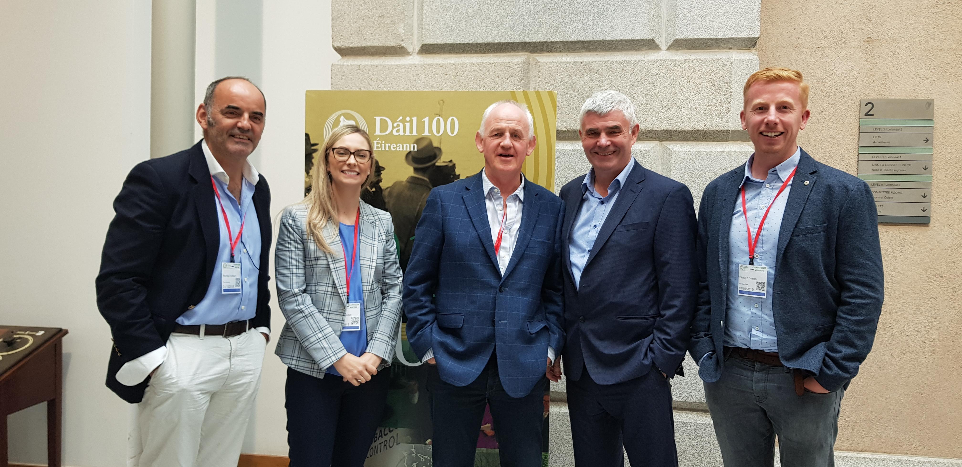 U-Flyte visits Senator Pádraig Ó Céidigh in Leinster House