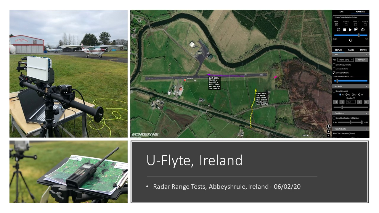U-Flyte undertake radar range testing using EchoFlight