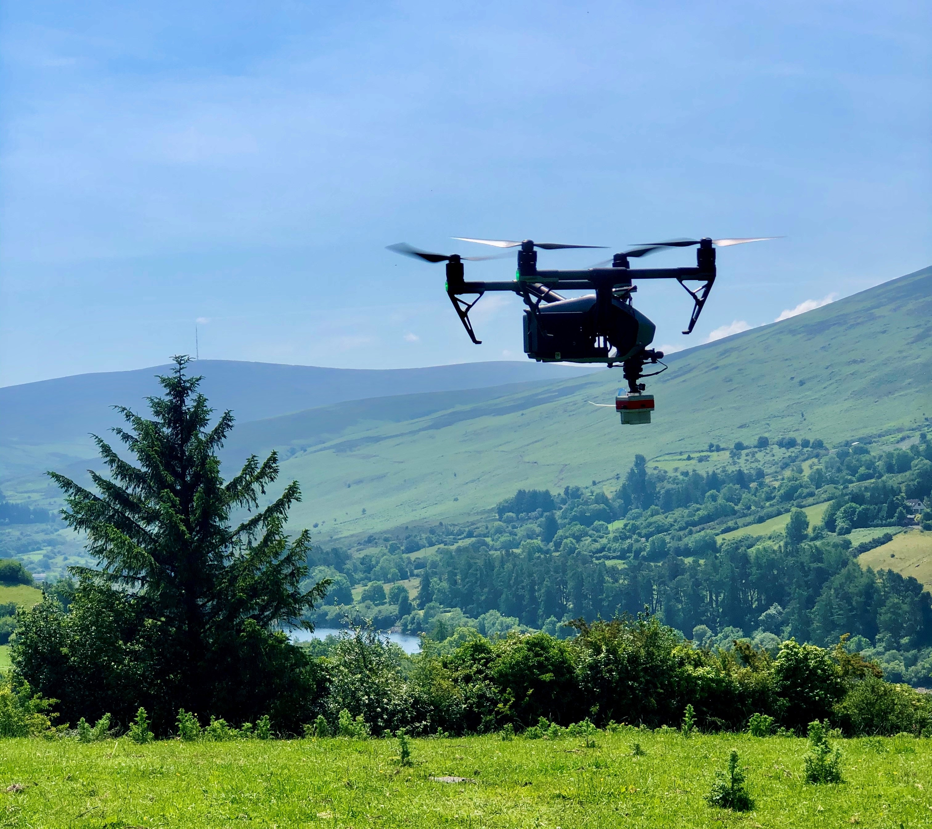 Maynooth University's drone sensor equipment in action